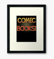 Comic Books T Shirt Framed Print