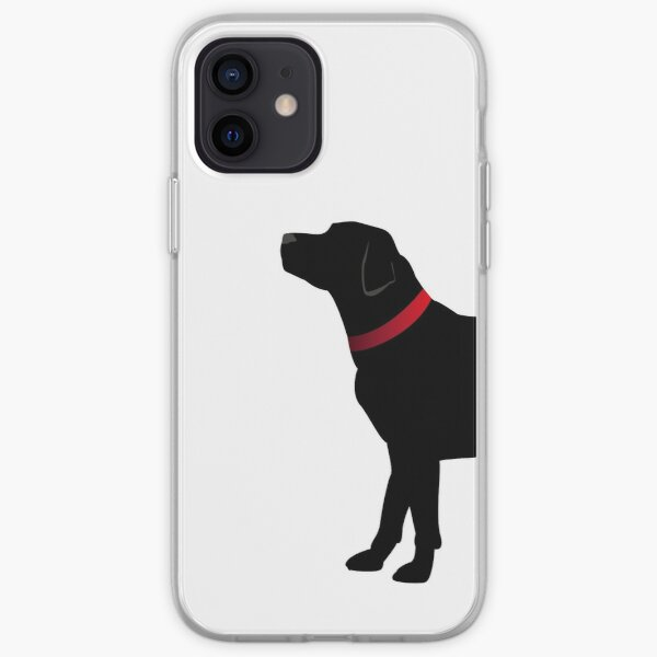 Black Labrador with Red Collar iPhone Soft Case