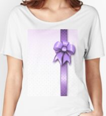 Lilac Present Bow Women's Relaxed Fit T-Shirt
