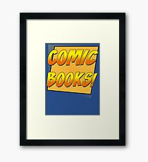 Retro Comic Books T Shirt Framed Print