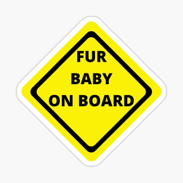 Fur Baby On Board Sticker