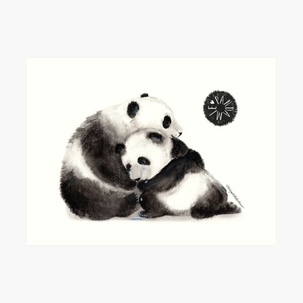 Pandamie_Give comfort and confidence Art Print