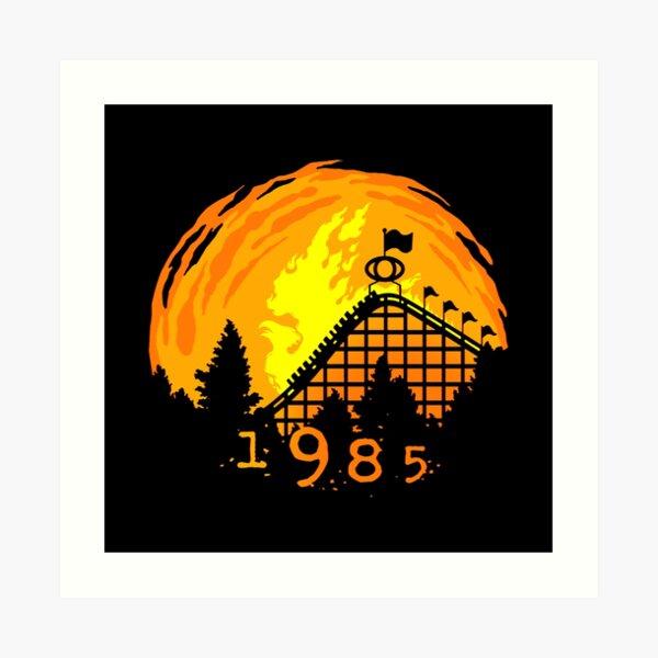 CAMPIRE Phoenix Rollercoaster en bois à Knoebels Impression artistique