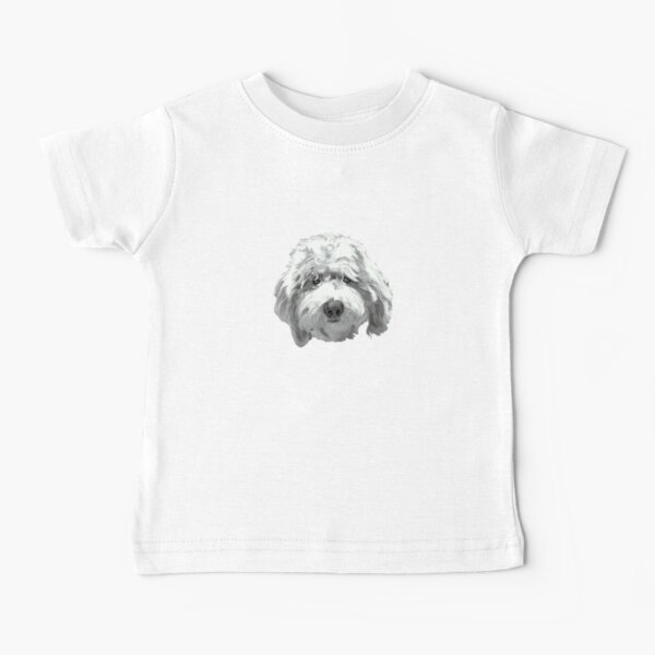 Lucky Labradoodle Face ~ Black and white Baby T-Shirt