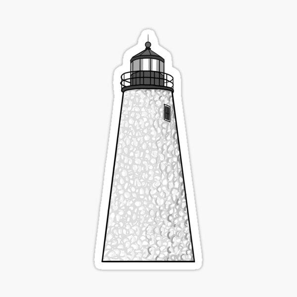 Dice Head Lighthouse Sticker