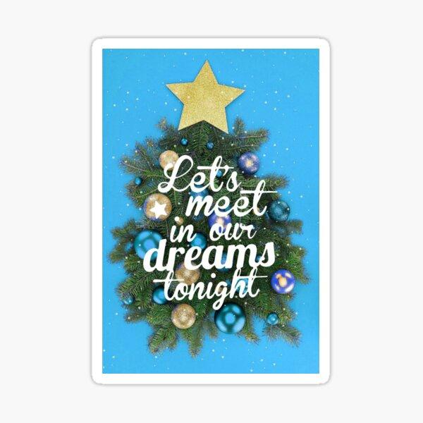 christmas decorations blue Sticker