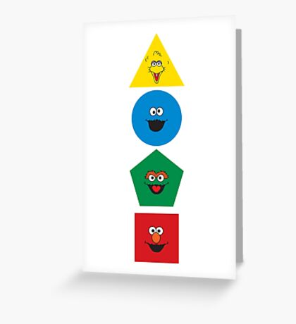 Sesame Street Primary Colors Basic Shapes Greeting Card
