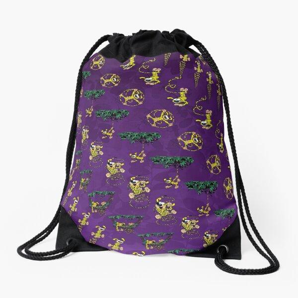 Marsupilami Tuti 2 / Purple design  Drawstring Bag