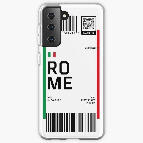 Rome Boarding Fly Ticket Samsung Galaxy Soft Case