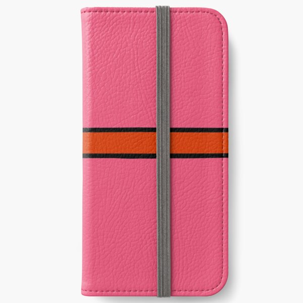 Festive Red Gift Bow on Pink iPhone Wallet