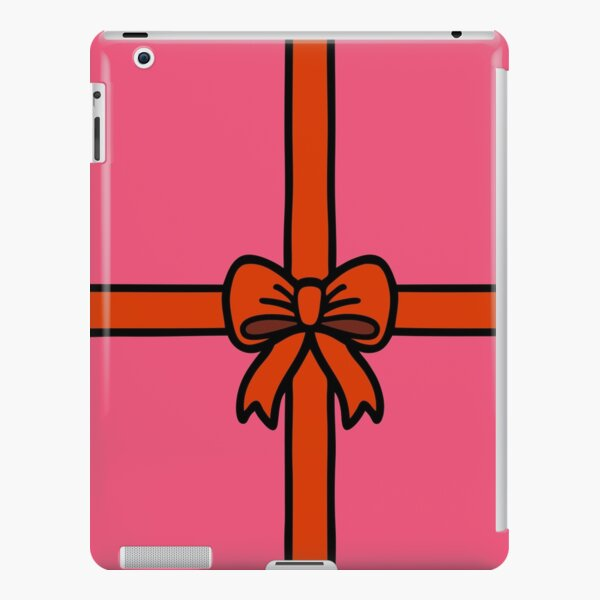 Festive Red Gift Bow on Pink iPad Snap Case