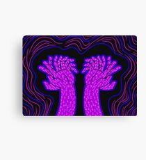 An overwhelming amount of fingers Canvas Print