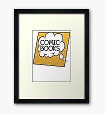 Comic Books Thought Bubble T Shirt Framed Print