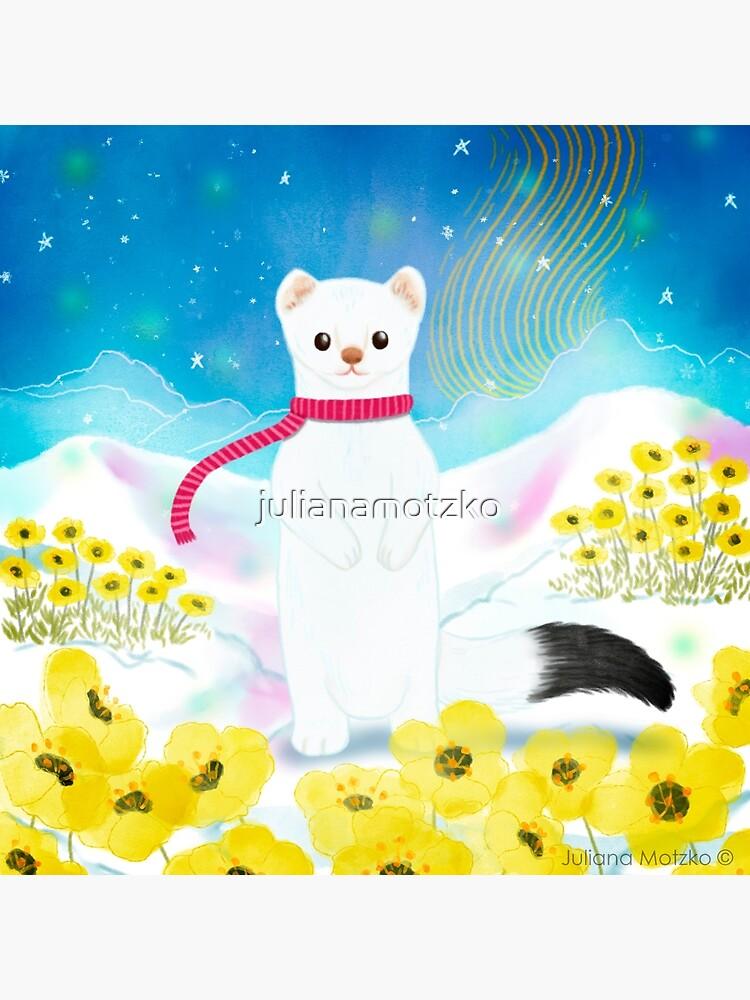 Arctic Wiesel by julianamotzko