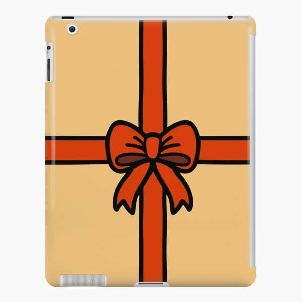 Festive Red Gift Bow on Gold iPad Snap Case