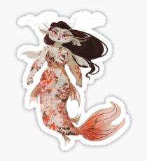 Koi Pond Mermaid Sticker