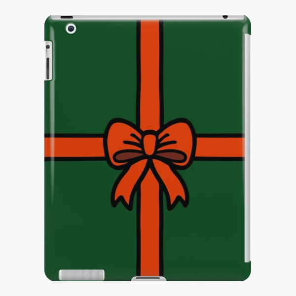 Festive Red Gift Bow on Green iPad Snap Case