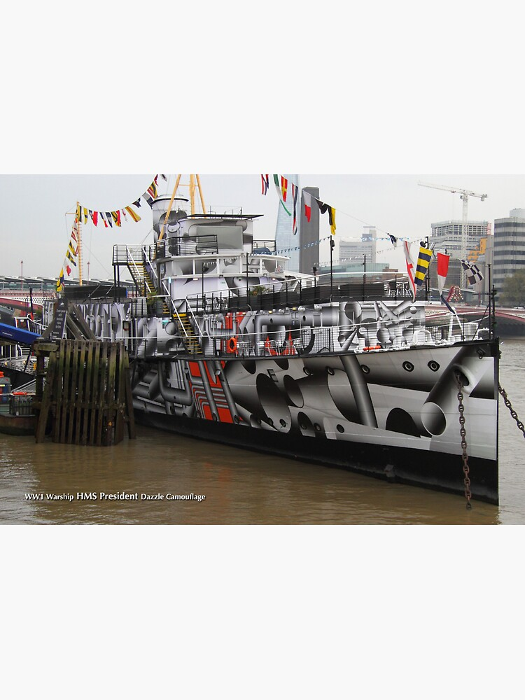 HMS President on the River Thames by hoxtonboy