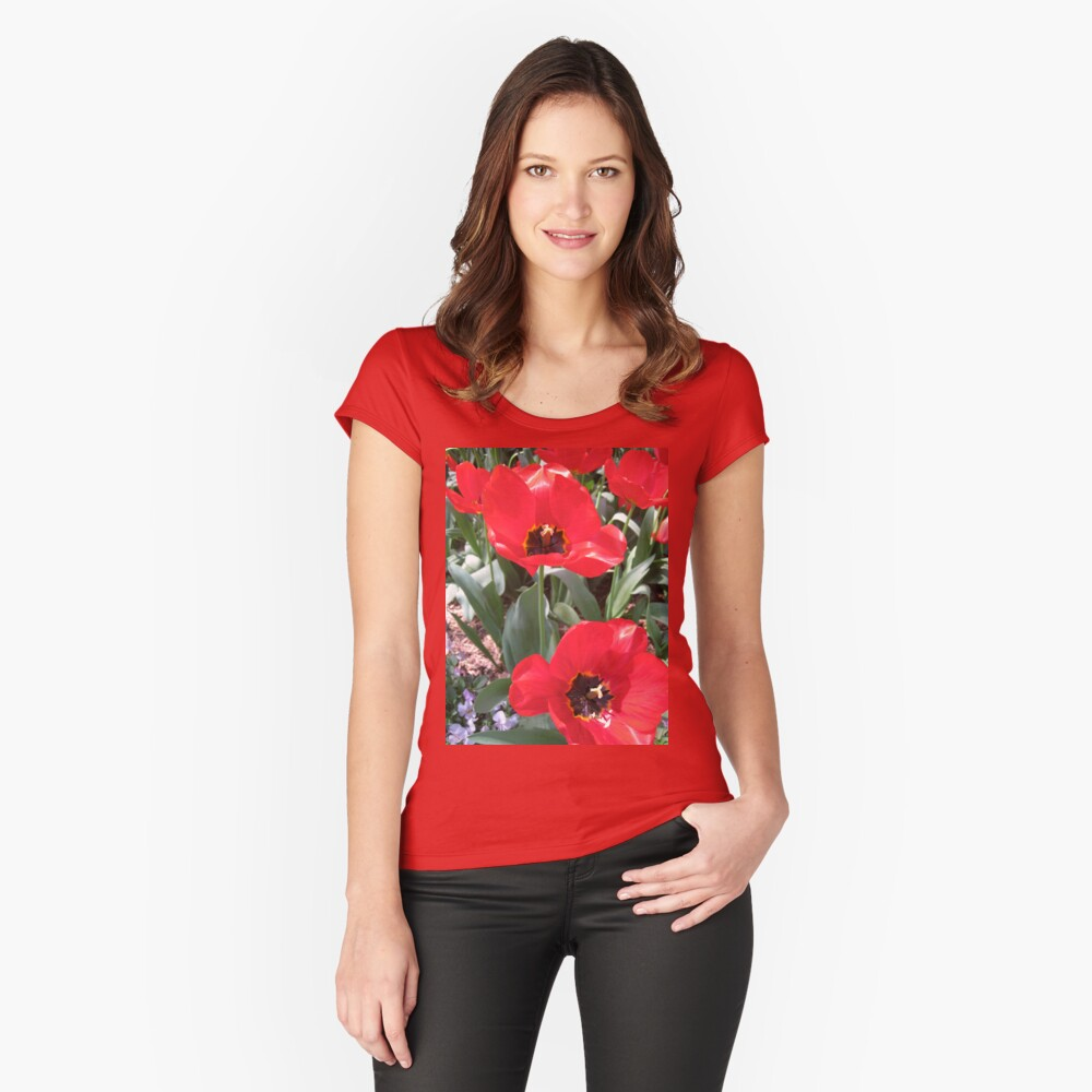 Tulip Time in Canberra Australia 16  Women's Fitted Scoop T-Shirt Front