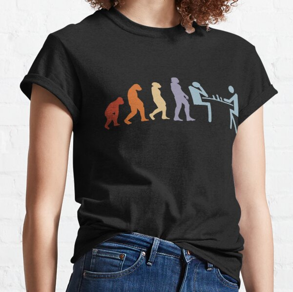 Chess chess game chess pieces evolution chess board Classic T-Shirt