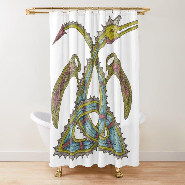 Celtic Triquetra Dragon Shower Curtain
