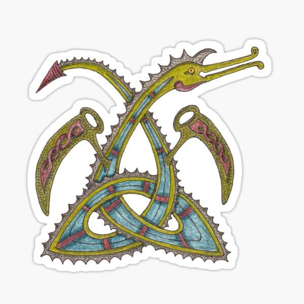 Celtic Triquetra Dragon Sticker