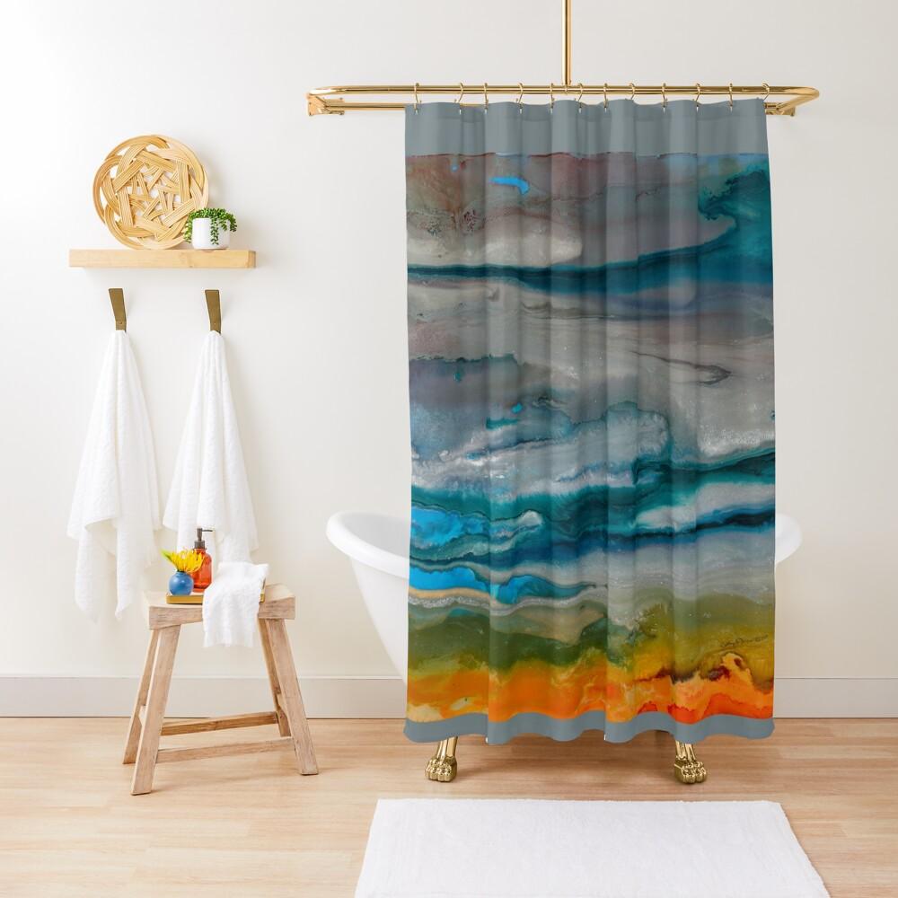 Silver Sky Shower Curtain