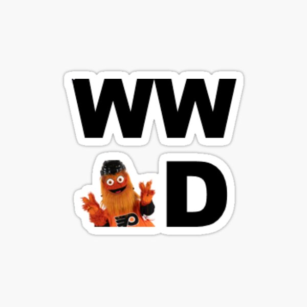 What Would Gritty Do - square Sticker