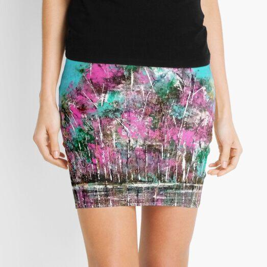 Purple Tree Abstract artwork Mini Skirt