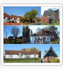 Cottages Collage Sticker