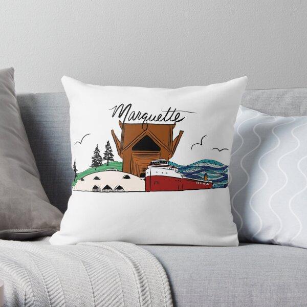 Marquette, Michigan  Throw Pillow