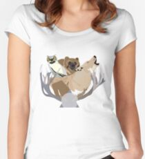 Forest Animals Women's Fitted Scoop T-Shirt