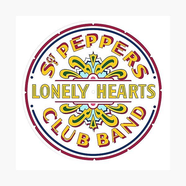 [HIGH QUALITY] Sgt Pepper Logo Photographic Print