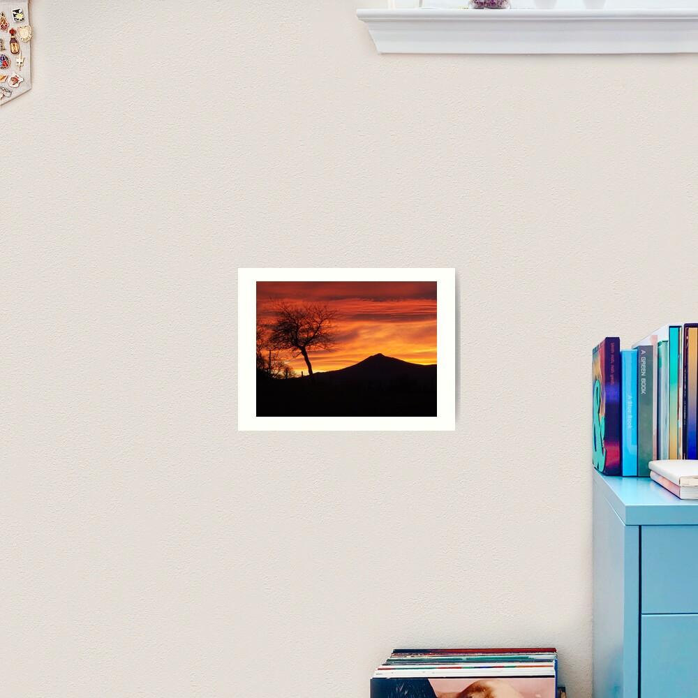 Bennachie sunset Art Print