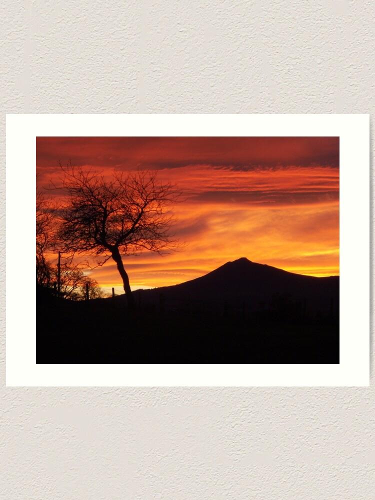 Alternate view of Bennachie sunset Art Print