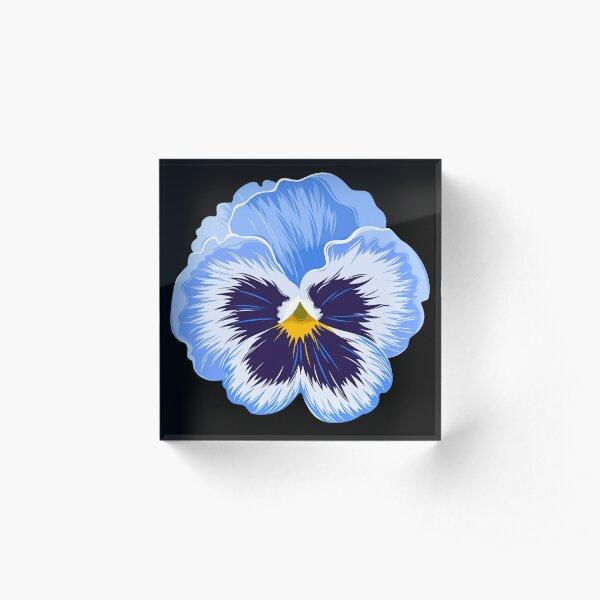 blue pansy flower Acrylic Block