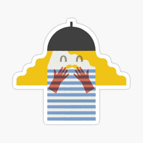 Flat illustration characters pattern Sticker