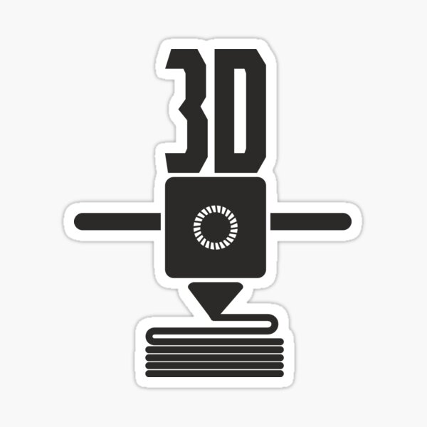 3D printer for the maker quote Sticker