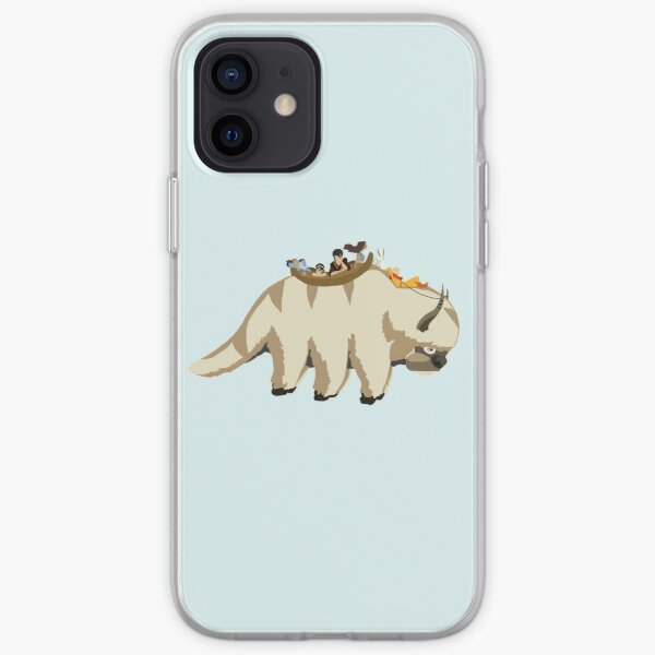 Team Avatar on Appa iPhone Soft Case