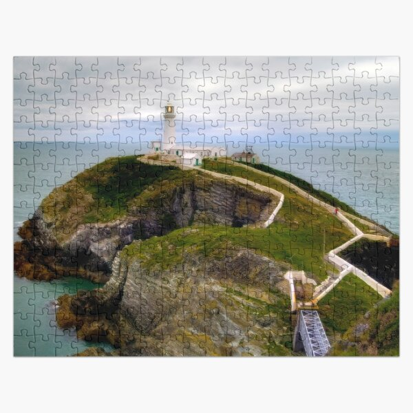 South Stack Lighthouse - Holyhead, Anglesey,  Wales. Jigsaw Puzzle