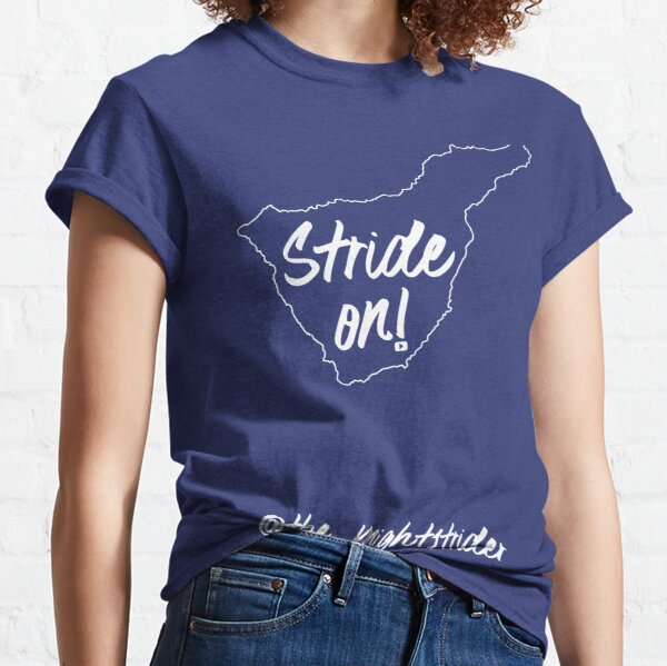 STRIDE ON in white - Tenerife - The Knightstrider Classic T-Shirt