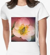Fly Flower Women's Fitted T-Shirt