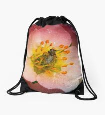 Fly Flower Drawstring Bag