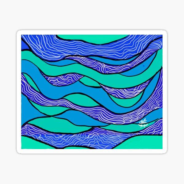 Blue Lines Sticker