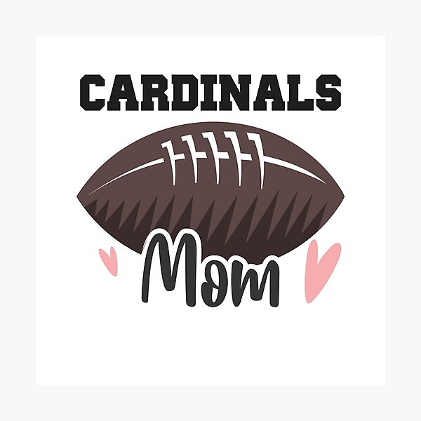 Cardinals Football Mom Photographic Print