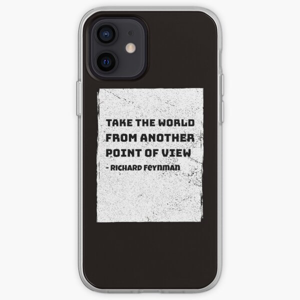 Cita de Richard Feynman Science Physics Funda blanda para iPhone