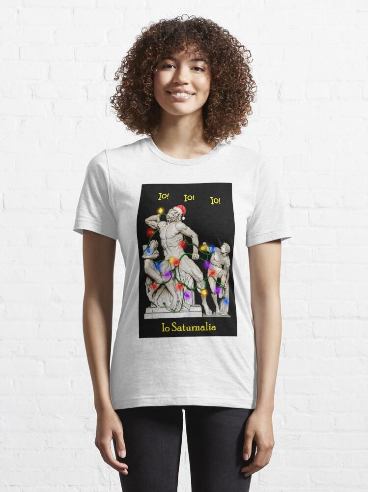 Alternate view of Io Saturnalia Laocoon New Classicists Essential T-Shirt