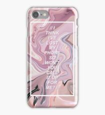 // UGH! THE 1975 LYRICS // iPhone Case/Skin