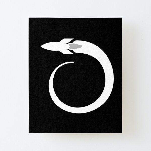 White Rocket  Canvas Mounted Print