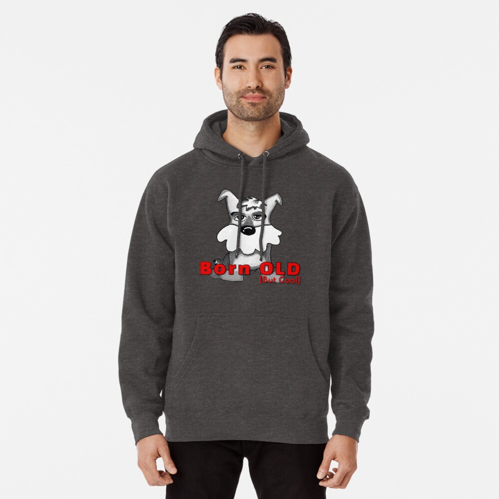 Born Old (But Cool) Pullover Hoodie